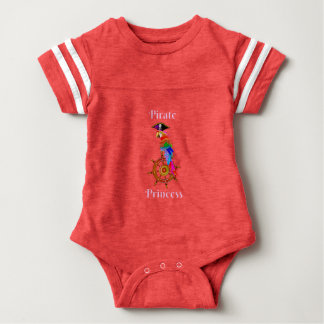 Pirate Princess - Parrot Baby Football Bodysuit