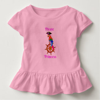Pirate Princess - Parrot Toddler Ruffle Tee