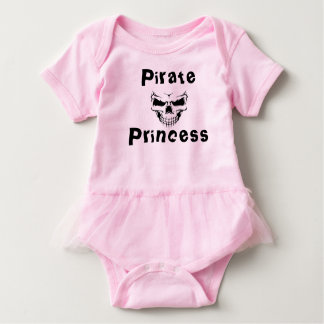 Pirate princess tutu baby bodysuit
