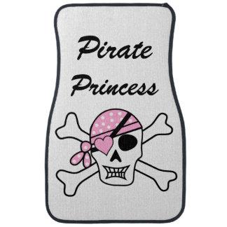 Pirate Princess with Pink Skull Car Mat