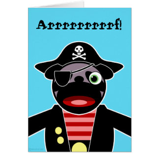 Pirate Pug Birthday Card