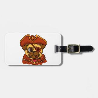 Pirate pug luggage tag