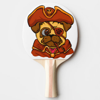 Pirate pug ping pong paddle
