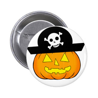 pirate pumpkin 2 inch round button