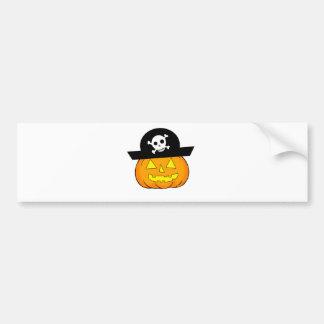 pirate pumpkin bumper sticker
