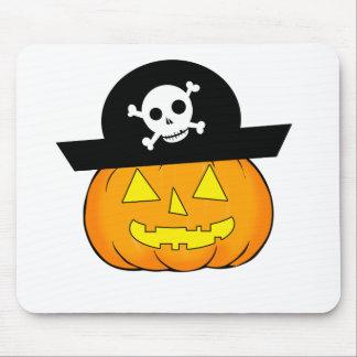 pirate pumpkin mouse pad