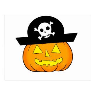 pirate pumpkin postcard