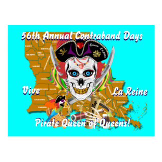 Pirate Queen Lafitte All Styles View Hints Postcard