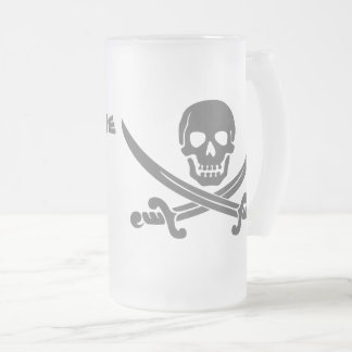 Pirate Quote - Why is the RUM Gone? Frosted Glass Beer Mug