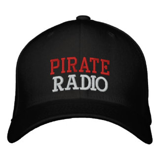 PIRATE, RADIO EMBROIDERED HAT
