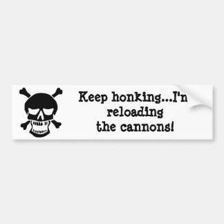 Pirate Reloading the Cannons Bumper Sticker