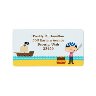 Pirate Return/Shipping Address Labels