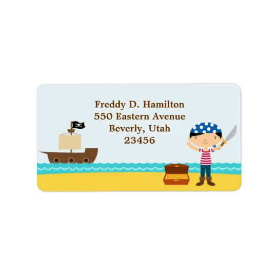 Pirate Return/Shipping Address Labels