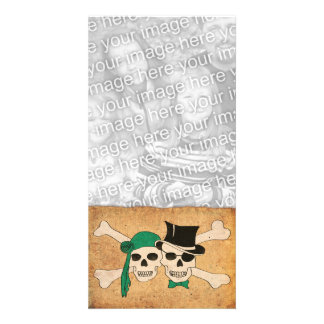 pirate scroll personalized photo card