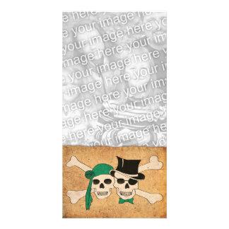 pirate scroll personalized photo card