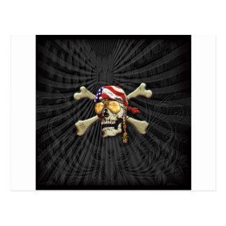 Pirate Scull Postcard