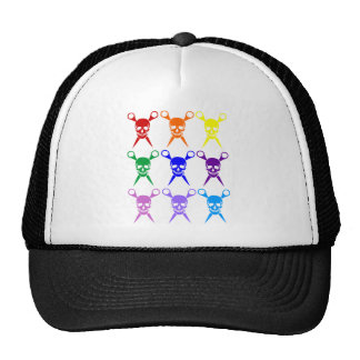 Pirate shears rainbow transparent 2009 trucker hat