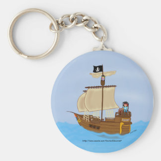 Pirate ship and Pirate faeries Keychain