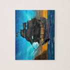 PIRATE SHIP AT SUNSET JIGSAW PUZZLE