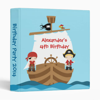Pirate Ship Birthday Party Photo Album Vinyl Binders