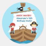 Pirate Ship Birthday Party Sticker
