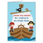 Pirate Ship Birthday Thank You Card
