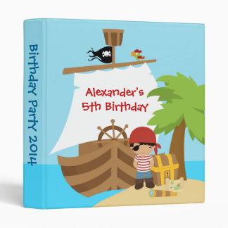 Pirate Ship BoyBirthday Party Photo Album Vinyl Binder