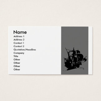 Pirate Ship Business Card