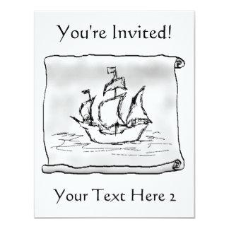Pirate Ship. Card