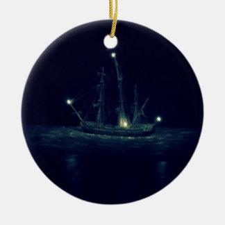 Pirate Ship Ceramic Ornament