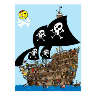 Pirate Ship Escape Postcard