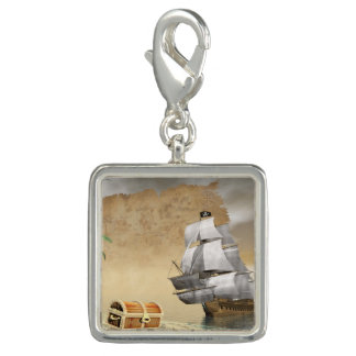 Pirate ship finding treasure - 3D render Photo Charms