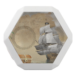 Pirate ship finding treasure - 3D render White Bluetooth Speaker