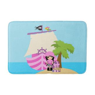 Pirate Ship Girl Bath Mat
