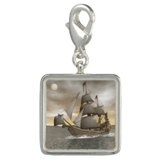 Pirate ship leaving - 3D render Charms