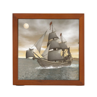 Pirate ship leaving - 3D render Desk Organizer