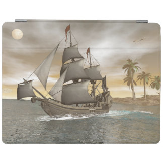 Pirate ship leaving - 3D render iPad Cover