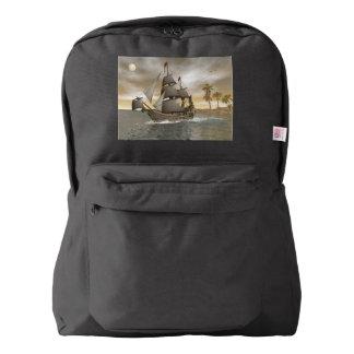Pirate ship leaving - 3D render.j Backpack
