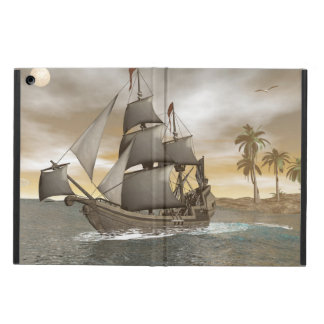 Pirate ship leaving - 3D render.j Case For iPad Air