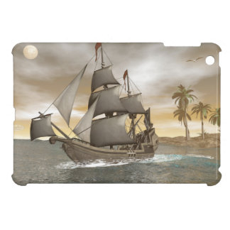 Pirate ship leaving - 3D render.j Case For The iPad Mini