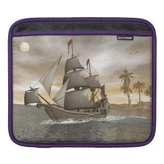Pirate ship leaving - 3D render.j iPad Sleeve