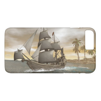 Pirate ship leaving - 3D render.j iPhone 8 Plus/7 Plus Case