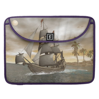 Pirate ship leaving - 3D render.j Sleeve For MacBooks