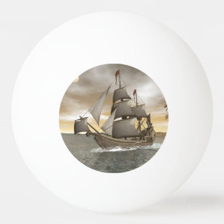 Pirate ship leaving - 3D render Ping Pong Ball