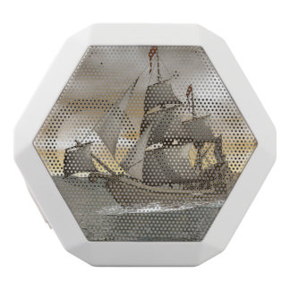 Pirate ship leaving - 3D render White Bluetooth Speaker