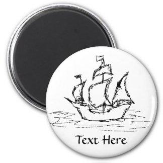 Pirate Ship. Fridge Magnet