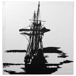 pirate ship napkin