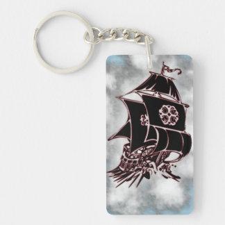 Pirate Ship Nautical Single-Sided Rectangular Acrylic Keychain