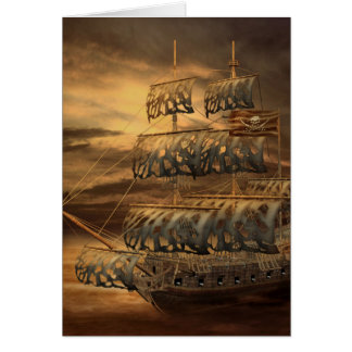 Pirate Ship Note Card