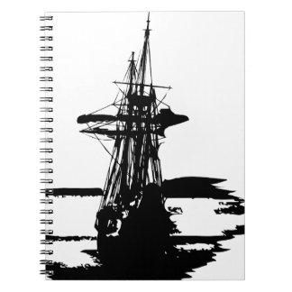 pirate ship notebook